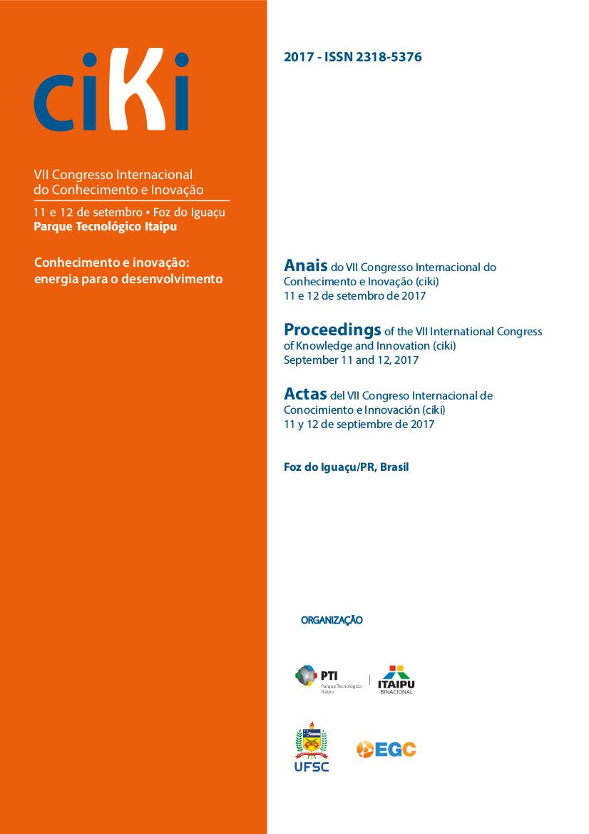Visualizar v. 1 n. 1 (2017): Anais do VII Congresso Internacional de Conhecimento e Inovação (ciKi)