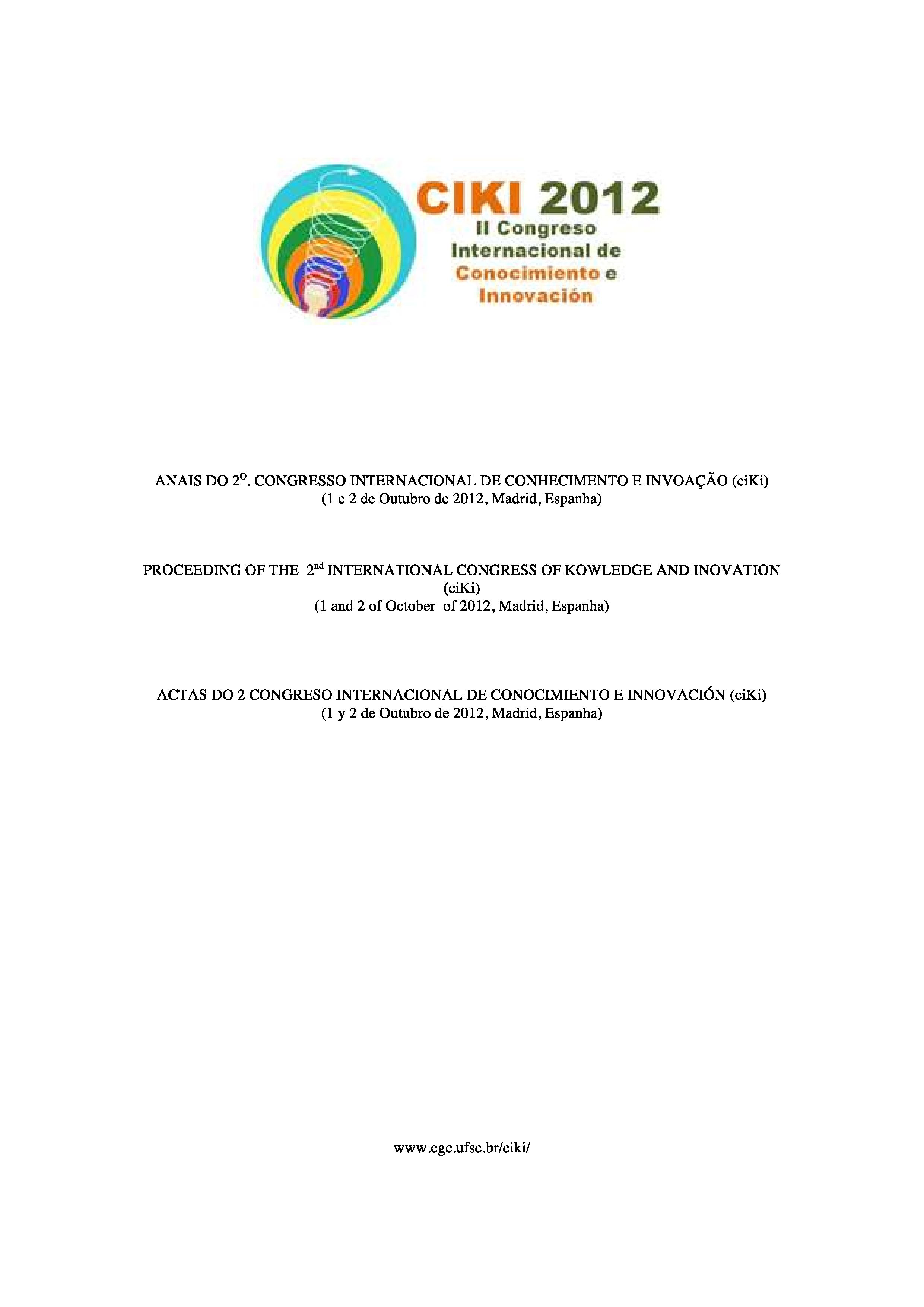 Visualizar v. 1 n. 1 (2012): El Reto de Dinamizar la PYME y el Emprendimiento Innovador